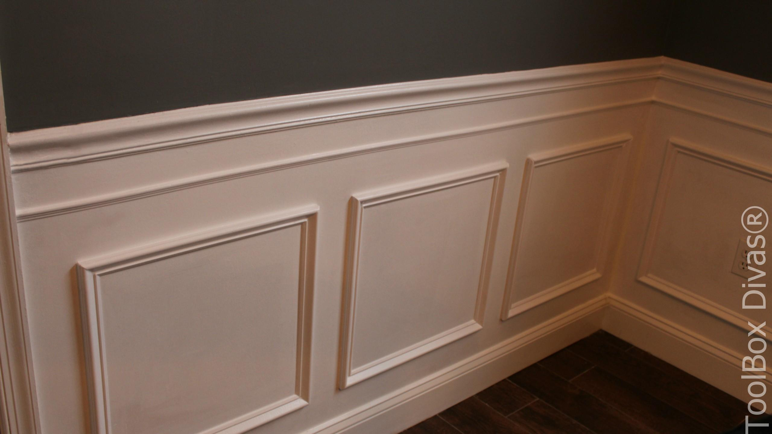 How to Install Picture Frame Moulding Wainscoting - ToolBox ... Wainscoting How To Install on install ceiling fan, install coffered ceiling, install sink, install soffit, install drywall, install home, install water softener,
