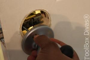 10 How to Replace a Bedroom & Bathroom Door Knob - Toolbox Divas