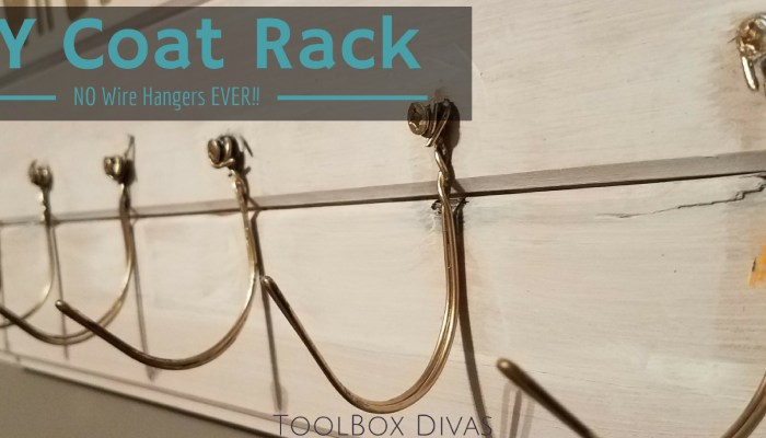 No Wire Hangers Ever! – Use It To Build a Coat Rack