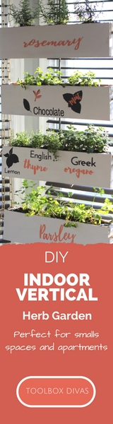 Indoor Vertical Herb Garden   Toolbox Divas
