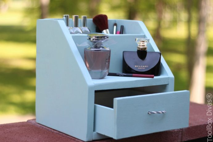 DIY Perfume and Makeup Organizer - Toolbox Divas