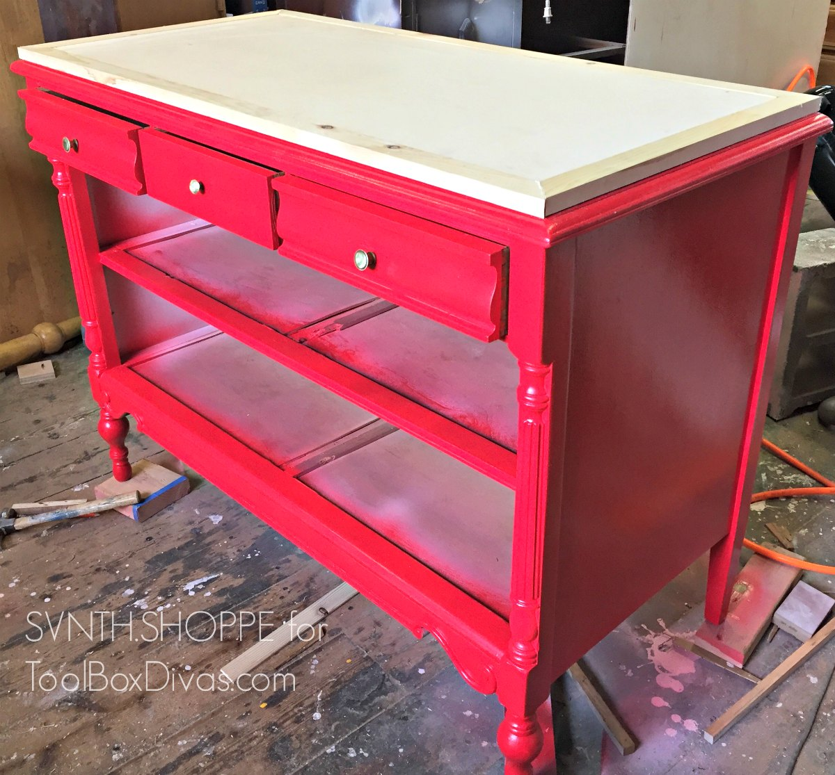 All Dressed Up - Turn An Old Dresser Into A Kitchen Island
