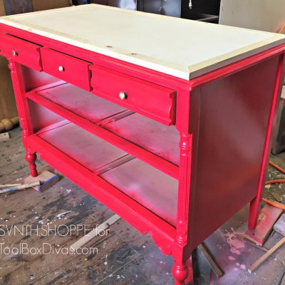 All Dressed Up – Turn An Old Dresser Into A Kitchen Island