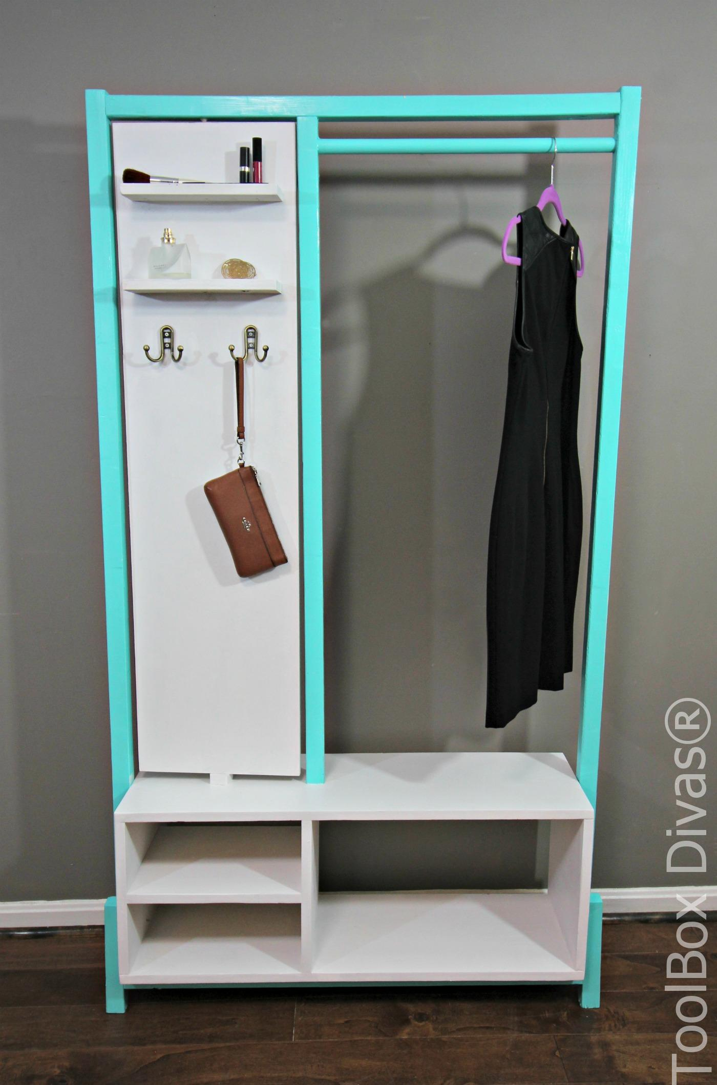 Stylish Diy Minimalist Clothes Rack Toolbox Divas