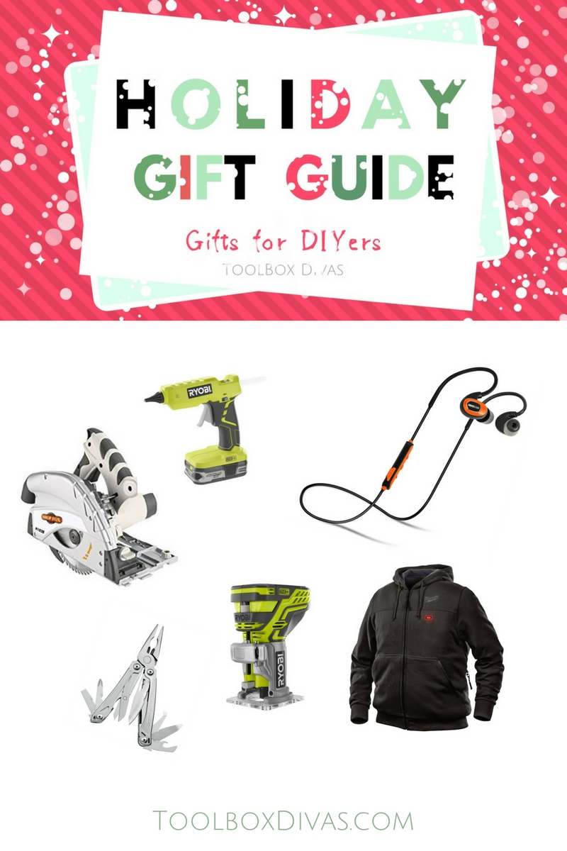 Gift Guide. Looking for the perfect gift this holiday?  Check out these affordable gifts for the special DIYers in your life.  Christmas gift ideas, Gift ideas for the Do it yourself, handyman, handy woman @Toolboxdivas #DIY #Giftguide #Giftideas #Christmas #Christmasgiftsideas #Handyman #Handywoman #ToolboxDivas
