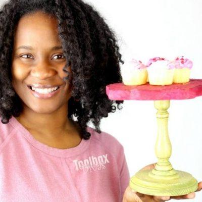 Toolbox Divas Mini Cake Stand shaped like a rose 2