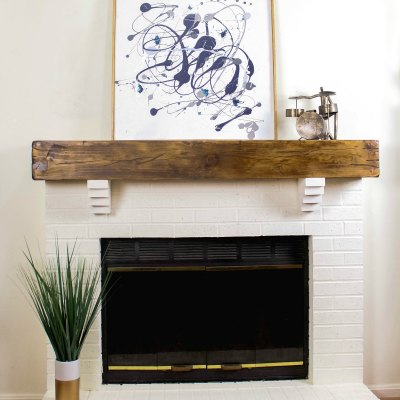 How To Build a Rustic Faux Beam Mantel