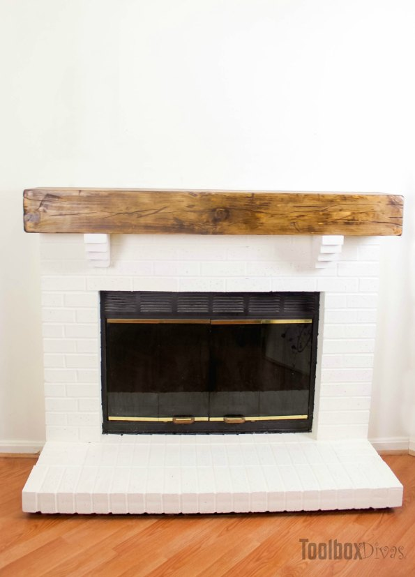 DIY Rustic Fireplace Mantel Toolbox Divas (22 of 25)
