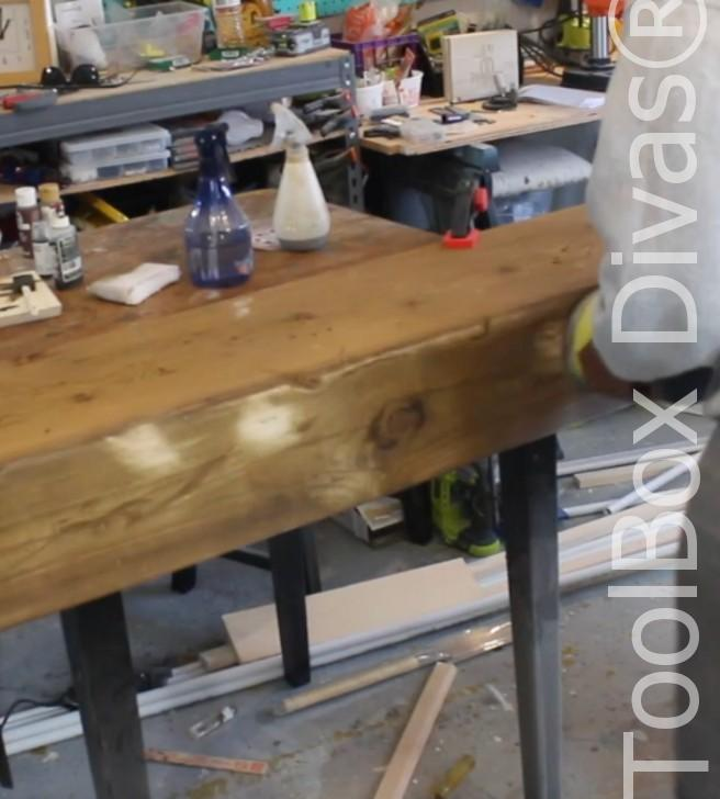 How to build a Rustic Faux wood beam mantel or floating shelf - Toolbox Divas 24