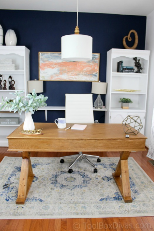 Home office makeover on a budget toolbox divas - Home office ideas for her ...