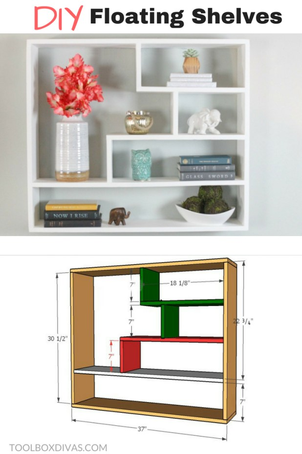 Floating Shelves/ bookcase/ bookshelf - Toolbox Divas