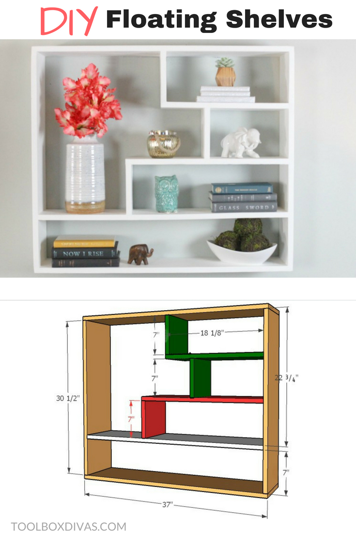 Diy Floating Shelf Bookshelf Bookcases With Changeable Backing