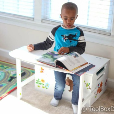Desk and Bench Set w/Toy Box Storage