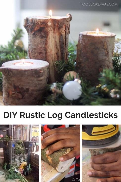 DIY Rustic Candlestick or holder
