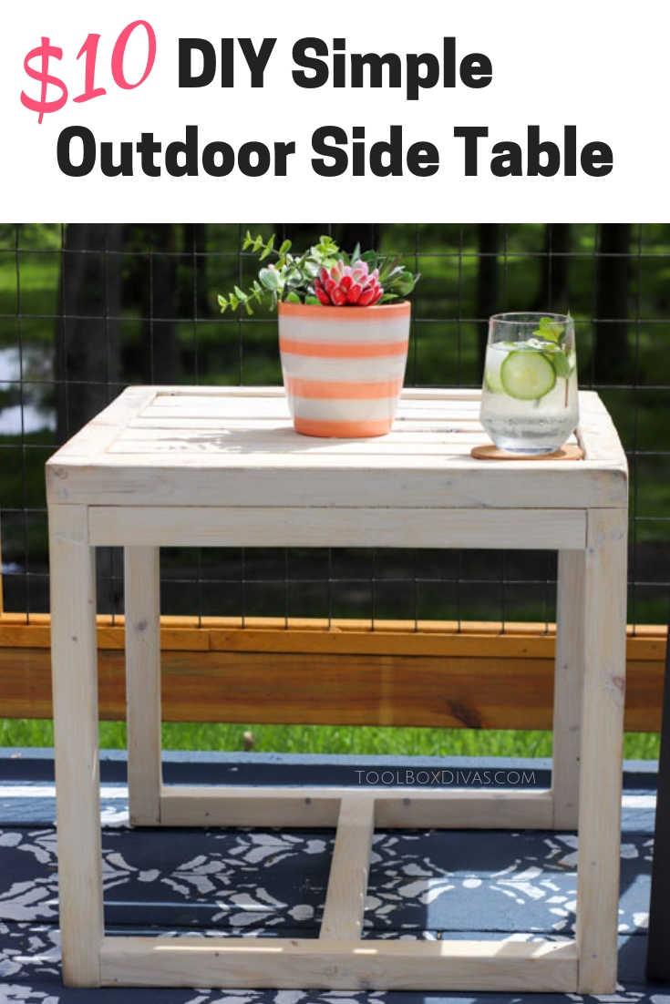 simple 10 diy outdoor side table