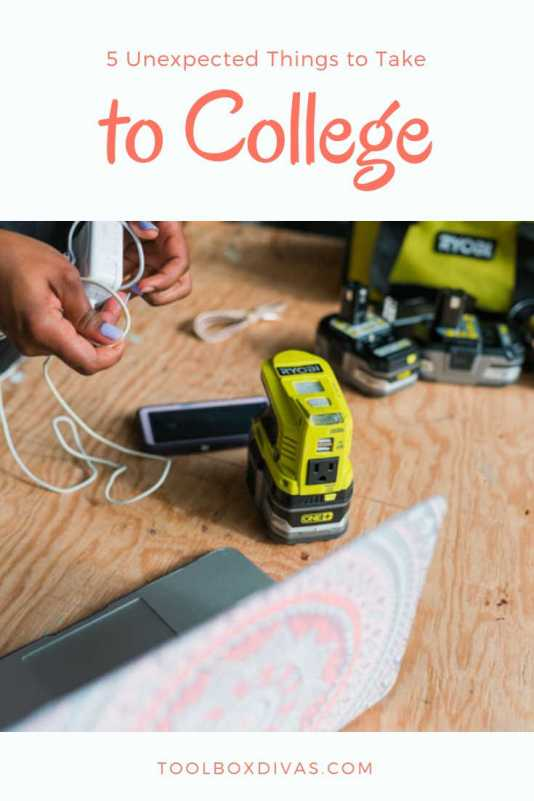 5 unexpected things to Take to college, Back to school list @ToolBoxDivas