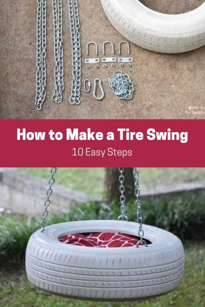 How to make a simple tire swing @ToolBoxDivas