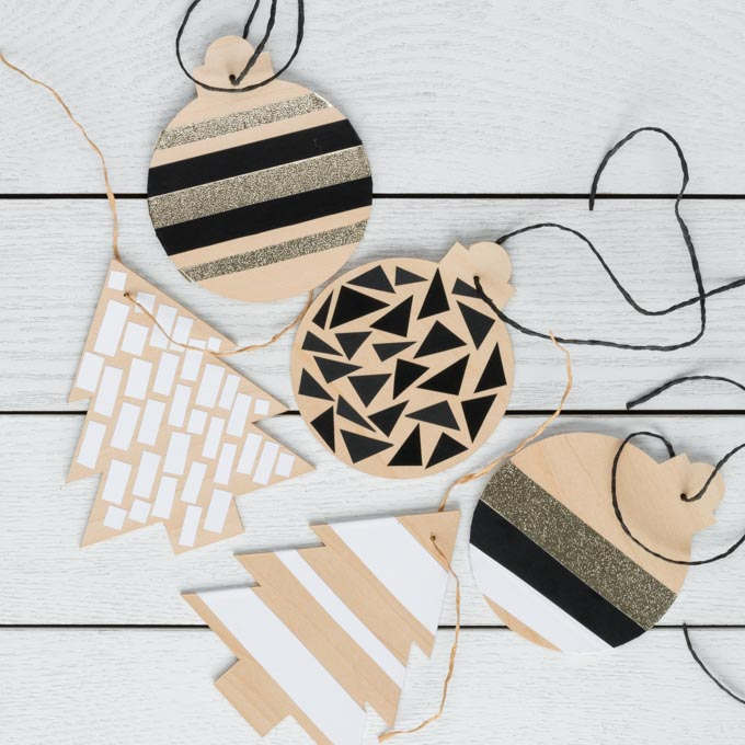 DIY Basswood Christmas Ornaments