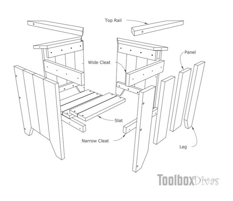DIY Small Wooden Planter Box Painted square cedar planter @ToolBoxDivas Free woodworking build plans parts