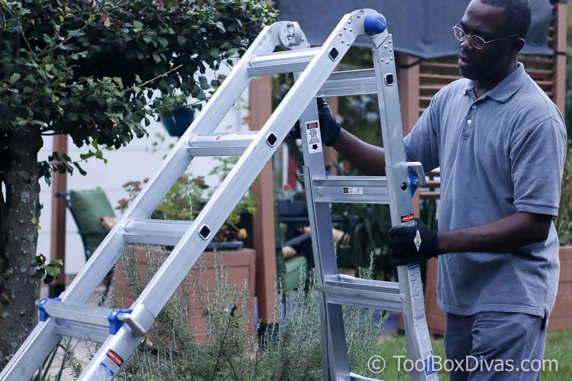 Werner 5 In 1 Telescoping 18 Ft Reach Aluminum Multi Position Ladder Toolbox Divas