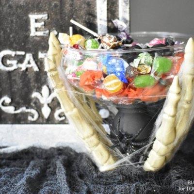 DIY Halloween Candy Dish - Dollar Tree Project @Toolboxdivas
