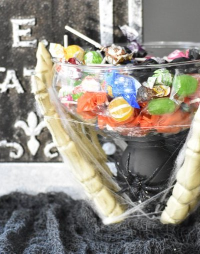 DIY Halloween Candy Dish - Dollar Tree Project @Toolboxdivas