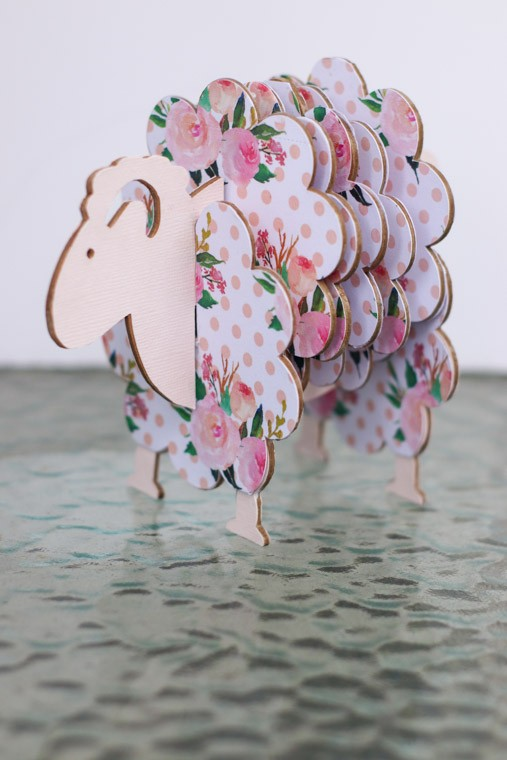 DIY Sheep Coasters using chipboard and a Cricut Maker