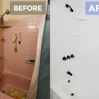 Yes you can paint the bathtub. I did @Toolboxdivas BEFORE & AFter
