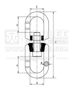 300 1464 Trawling Swivel Flex Type with Recessed Pad SSFR Drawing