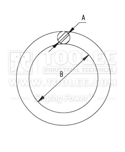 300 1512 Weldless Round Ring Drawing