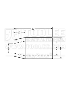 300 2310 Steel Swage Sleeves for Flemish Eye drawing