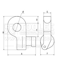 300 1291 Container Lifting Lug for Bottom Side Lifting Drawing