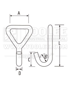 300 500 3206 Single J Hook Drawing WM