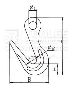 300 1258 Sorting Hook drawing