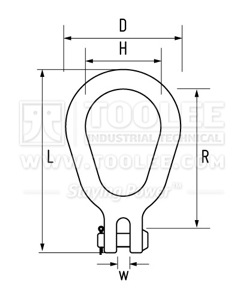 300 1622 Lug Links Clevis Type Drawing