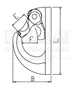 300 1251 Welded On Hook Light Type G80 drawing