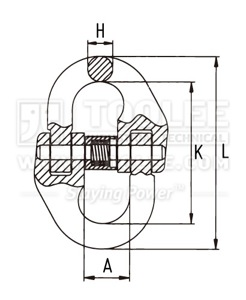 300 1601 Connecting Link Coupling drawing