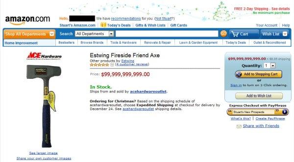 Amazon-Estwing-Axe-Screenshot