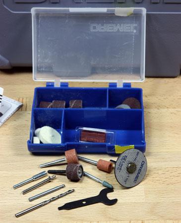 Dremel 8200 Cordless Rotary Tool Kit Accessories