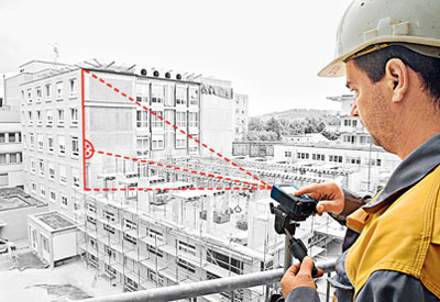 Bosch GLR825 Laser Range Finder Outdoor Measurements