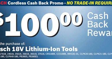 Ohio Power Tool Bosch 18V Rebate