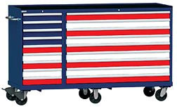 Lista Red White and Blue Tool Storage Box
