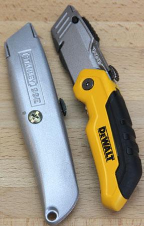 Dewalt Folding Retractable Utility Knife Size Comparison