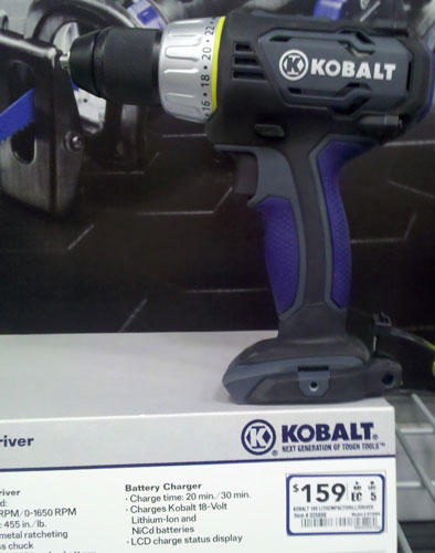 Lowes Kobalt Cordless Power Tools Compact Drill Driver