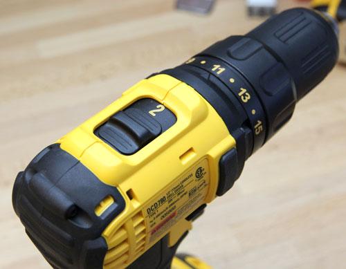 Dewalt 20V Drill DCD780C2 Top Speed Switch