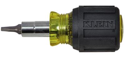 Klein 6-in-1 Stubby Screwdriver