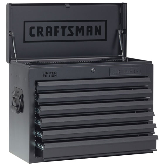 Craftsman Blacked Out Ball Bearing Tool Storage Chest