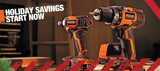 Home Depot Holiday Tool Deals 2012