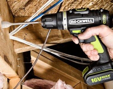 Rockwell 16V Li-Ion Drill Driver with Spade Bit