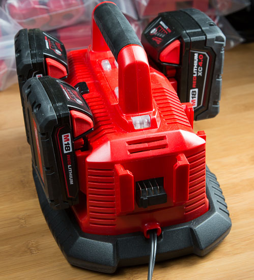Milwaukee M18 Six Pack Battery Charger Loaded Up